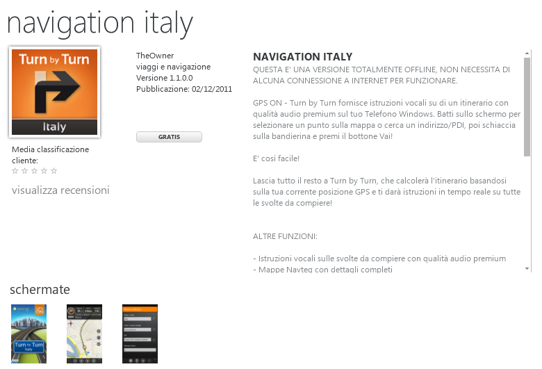 mappa navteq italia gratis