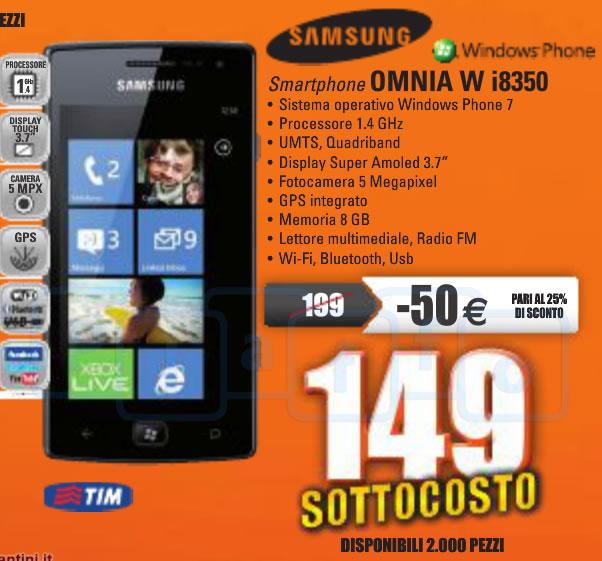 MarcoPolo Expert: Questo fine settimana il Samsung Omnia W a soli 149€