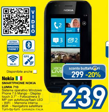Nokia Lumia 710 Prezzi Euronics
