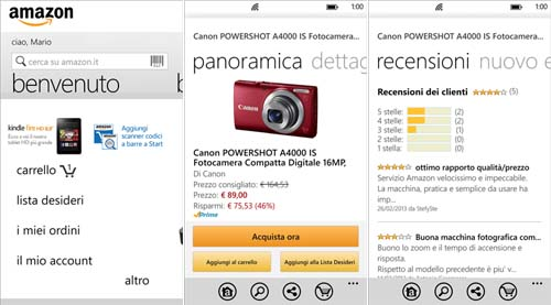 Amazon mobile l app ufficiale amazon si aggiorna alla for Amazon sito ufficiale