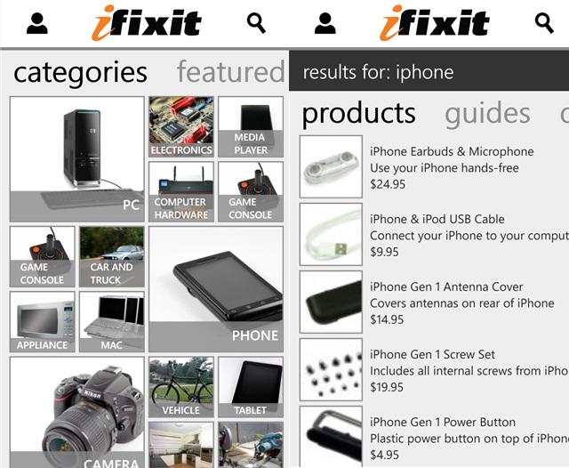 iFixit-Windows-Phone-app