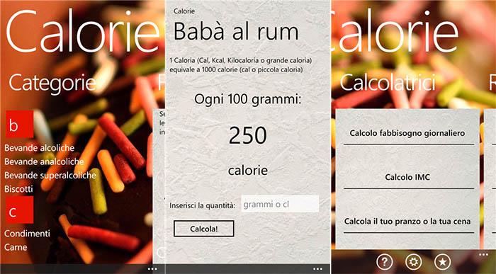 Calorie l app gratuita per scoprire l apporto calorico di for Calorie da assumere a pranzo