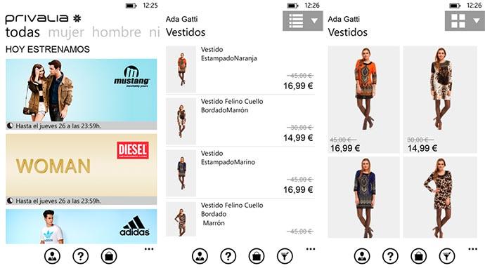Privalia l app ufficiale disponibile su windows phone 8 for Contatti privalia