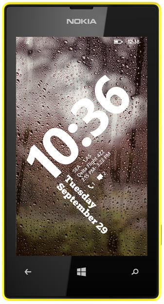 520-with-wp8.1-lock-screen