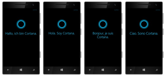cortana in italiano