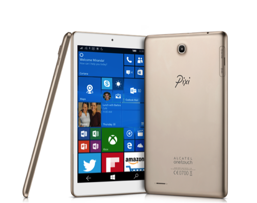 Alcatel OneTouch Pixi 3, il primo tablet Windows 10 Mobile