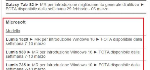 Vodafone Italia: Windows 10 sui propri Lumia dalla prossima settimana (7-13 marzo)
