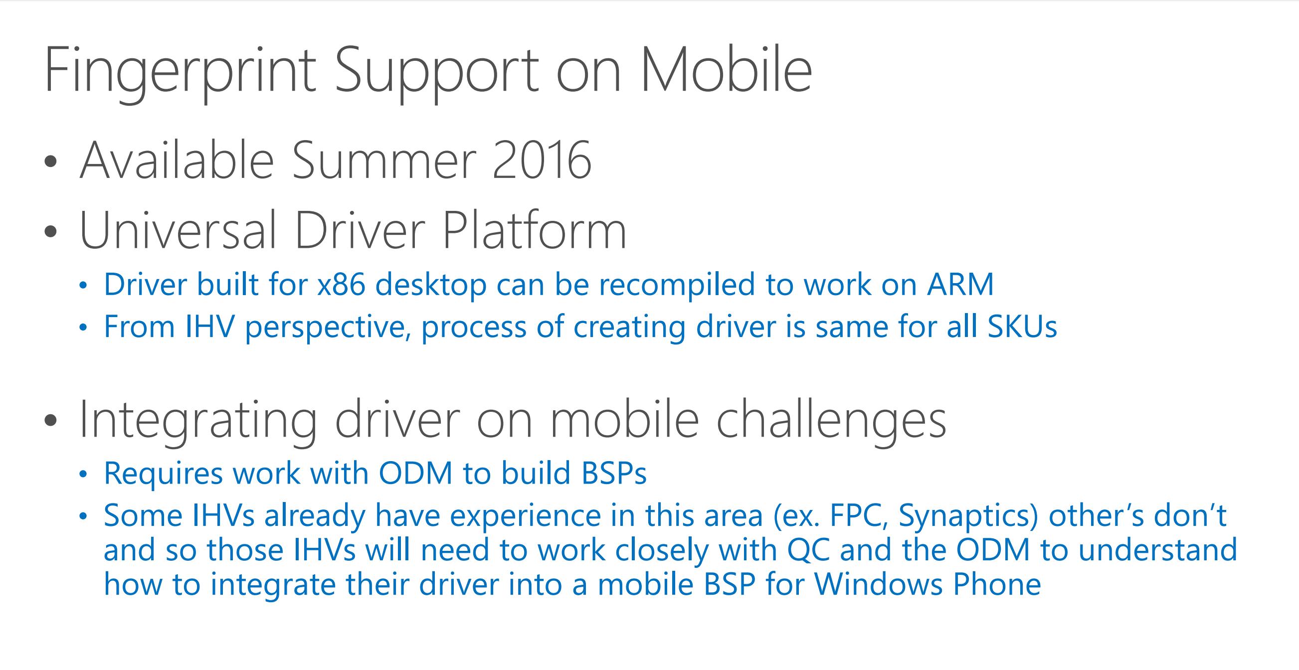 Windows 10 Mobile supporterà gli scanner di impronte digitali