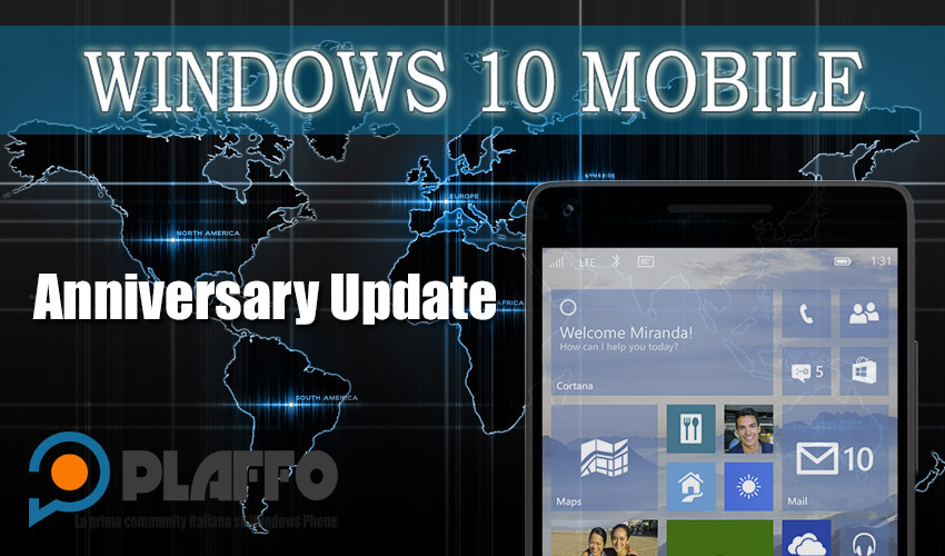 Windows 10 Mobile Anniversary Update disponibile ufficialmente!