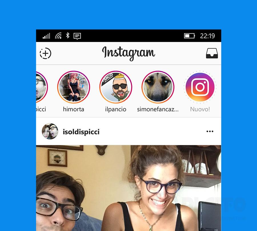 Instagram suggerisce anche storie di sconosciuti
