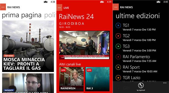 RaiNews WP8