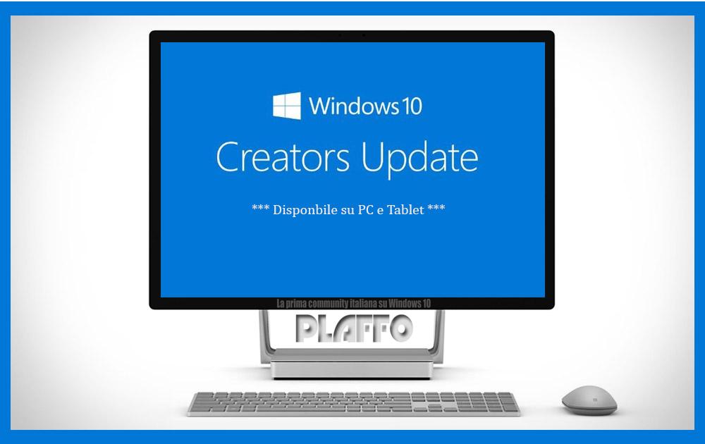 Windows 10 Creators Update farà buon uso dei vostri dati