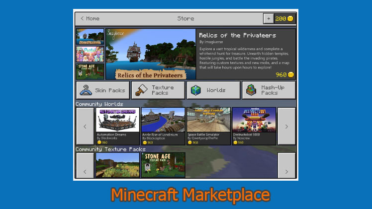 Minecraft Marketplace arriva su Windows 10