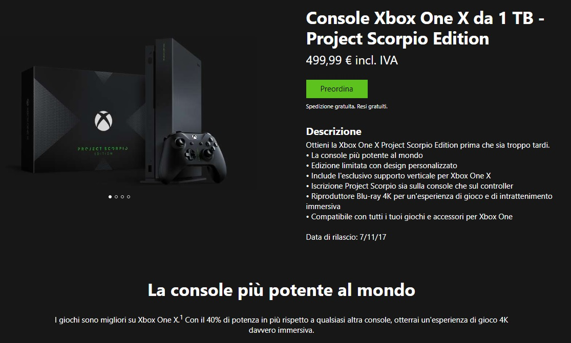 Xbox One X fa il botto in tutto il mondo