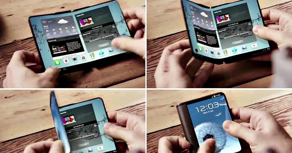 Arriva la prima conferma di uno smartphone pieghevole in futuro — Samsung