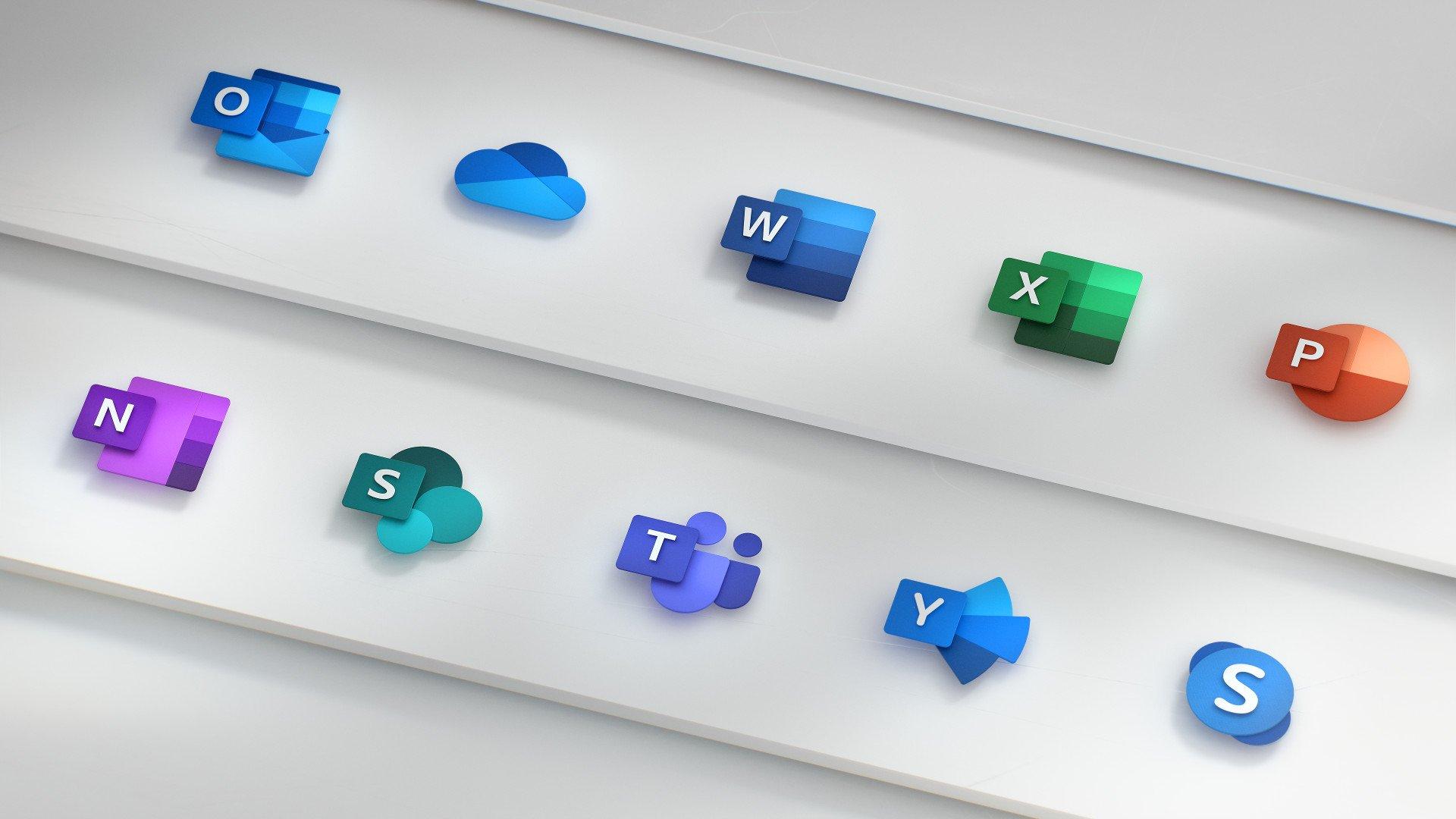 Microsoft mostra il design delle nuove icone per la suite Office